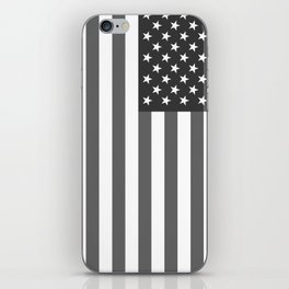 National flag of the USA, B&W version iPhone Skin