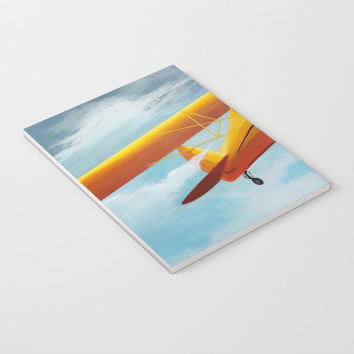Yellow Plane, Blue Sky Notebook