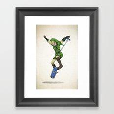 Skater Link - Zelda Framed Art Print