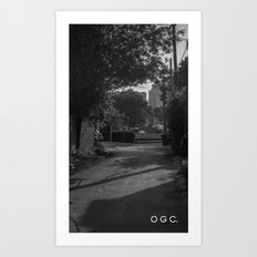 #backlanesofwpg one Art Print