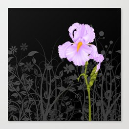 Iris Mauve Canvas Print
