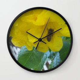 Pollenation Wall Clock