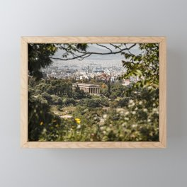 Temple of Hephaestus, Athens, Greece Framed Mini Art Print