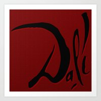 dali Art Prints featuring Dali by Turul