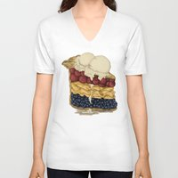 pie V-neck T-shirts featuring American Pie by Megs stuff