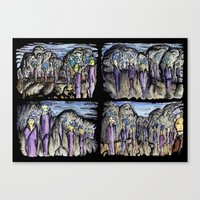 cities Canvas Prints featuring Cities by Kimmo Rantalainen