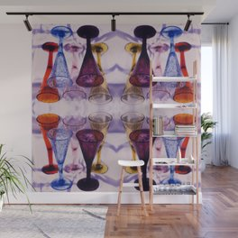 Wine Glass Photographic Pattern #1 Wall Mural