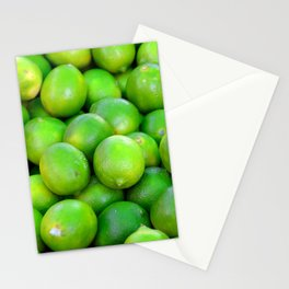 Green Limes fruit pattern Stationery Cards