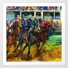 The Race No. 2B by Kathy Morton Stanion Art Print
