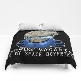 Garrus Vakarian Is My Space Boyfriend Comforters
