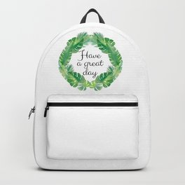 The Ohana Garden series VIII.  Backpack