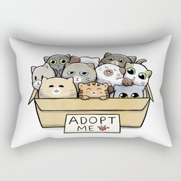 Box full of cats for adoption Rectangular Pillow
