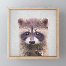 Raccoon - Colorful Framed Mini Art Print