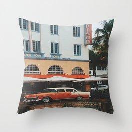 Art Deco Heaven, Miami Beach Throw Pillow