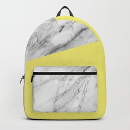 Marble and Yellow Color Backpack