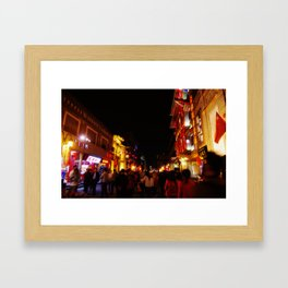 Beijing Nightlife Framed Art Print