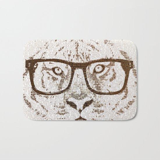 The Hipster Tiger Bath Mat