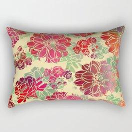 Flower Pattern Design #3 Rectangular Pillow
