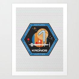 Kronos 1 Official Mission Emblem Art Print