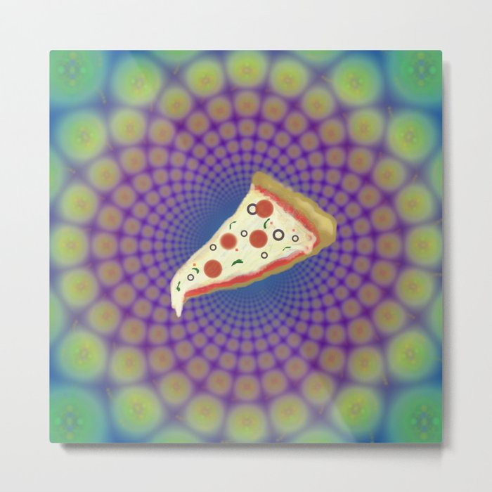 Pizza Party Betches Metal Print