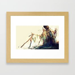 Creepy Crepe Framed Art Print