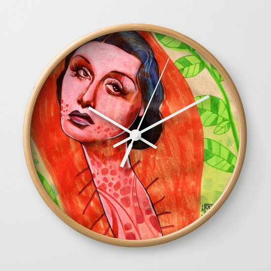SAD CHRYSALIS Wall Clock