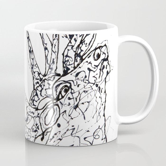 Elk  Dripped Abstract Pollock Style Coffee Mug