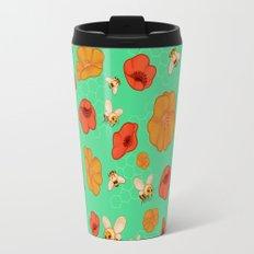 Poppies & Bees Travel Mug