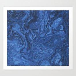 blue lapis Art Print