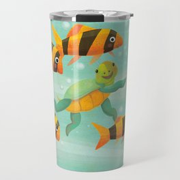 Baby Turtle's New Friends Travel Mug