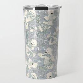 arctic polar bears silver Travel Mug