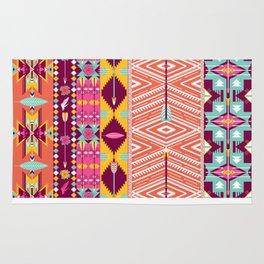 Aztec geometric seamless pattern Rug
