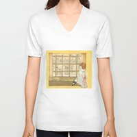 window V-neck T-shirts featuring Window by CHAR ODEN
