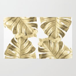 Monstera Gold Rug