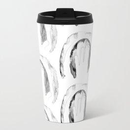 Print of hand of child, cute skin texture pattern, grunge illustration Travel Mug