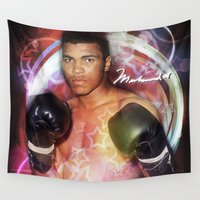 ali gulec Wall Tapestries featuring Ali #2 by YBYG