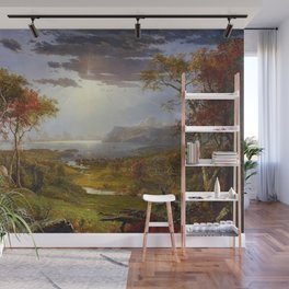 Autumn on the Hudson River by Jasper Francis Cropsey Wall Mural