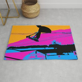 Tail Grabbing High Flying Scooter Rug