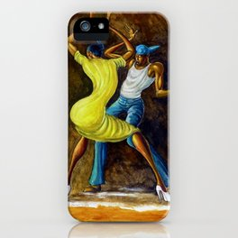Classical African-American Masterpiece 'The Dancing Couple' by Ernie Barnes iPhone Case
