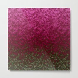 Raspberry olive abstract pattern Metal Print