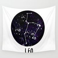 leo Wall Tapestries featuring LEO by starudijia