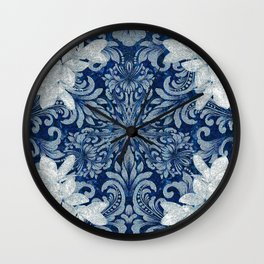 Vintage Floral Wreath Mandala Wall Clock
