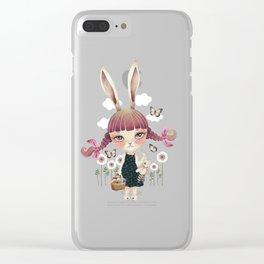 Sugar Bunny Clear iPhone Case