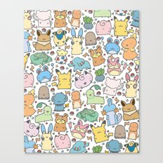Kawaii Pokémon Canvas Print