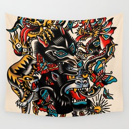 Traditional mess Wall Tapestry