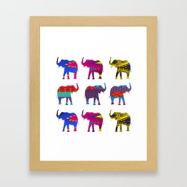 Funk Elephants Framed Art Print