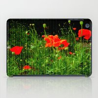 poppies iPad Cases featuring Poppies by Vitta