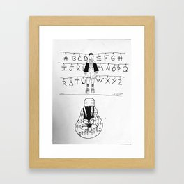 Eleven and the upside down Framed Art Print