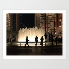 A Fountain in Simpler Times Art Print