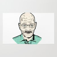 walter white Area & Throw Rugs featuring Walter White by Stella Vee